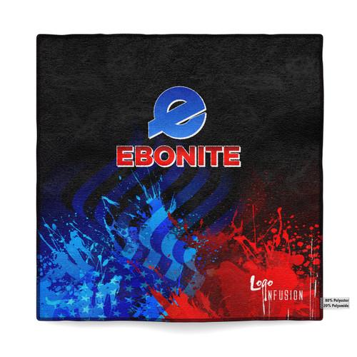 Ebonite Red/Blue Sublimated Towel