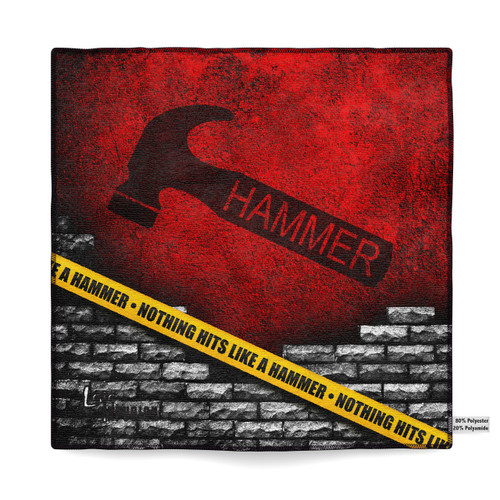 Hammer Caution Tape Sublimated Towel