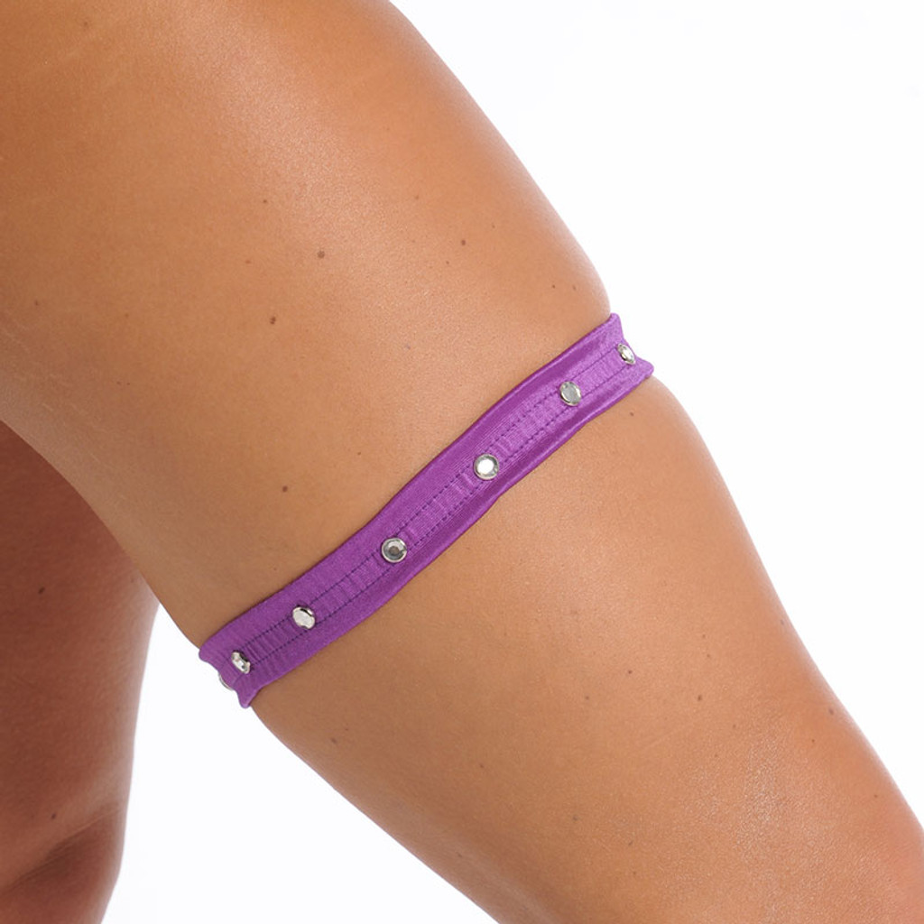 Flat Leg Garter with Rhinestones