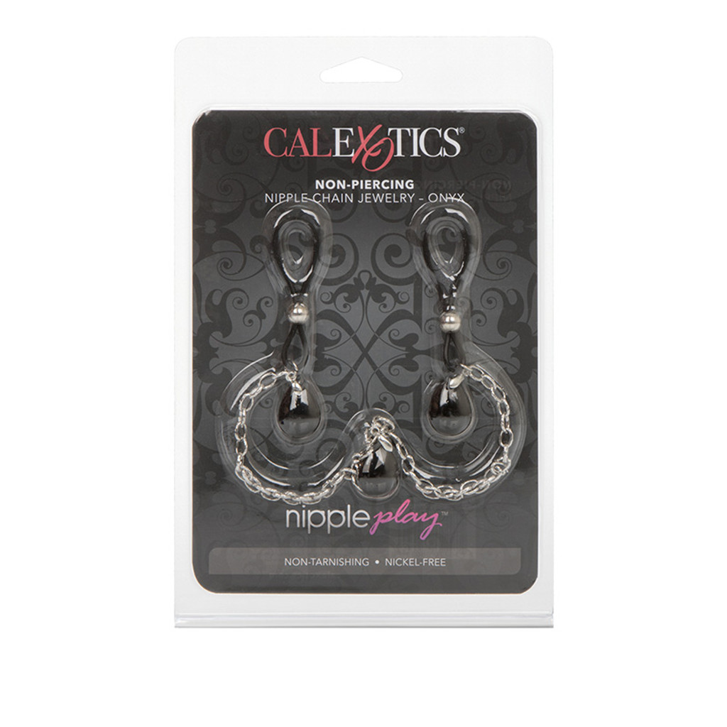 CalExotics Nipple Play Non-Piercing Nipple Chain Jewelry - Packaging Front