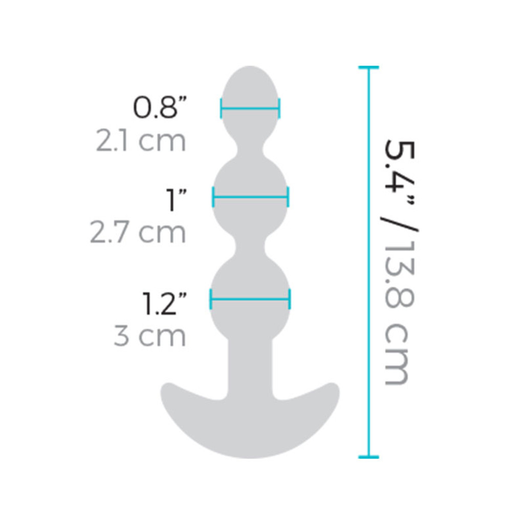 b-Vibe Remote Control Triplet Anal Beads - Measurements