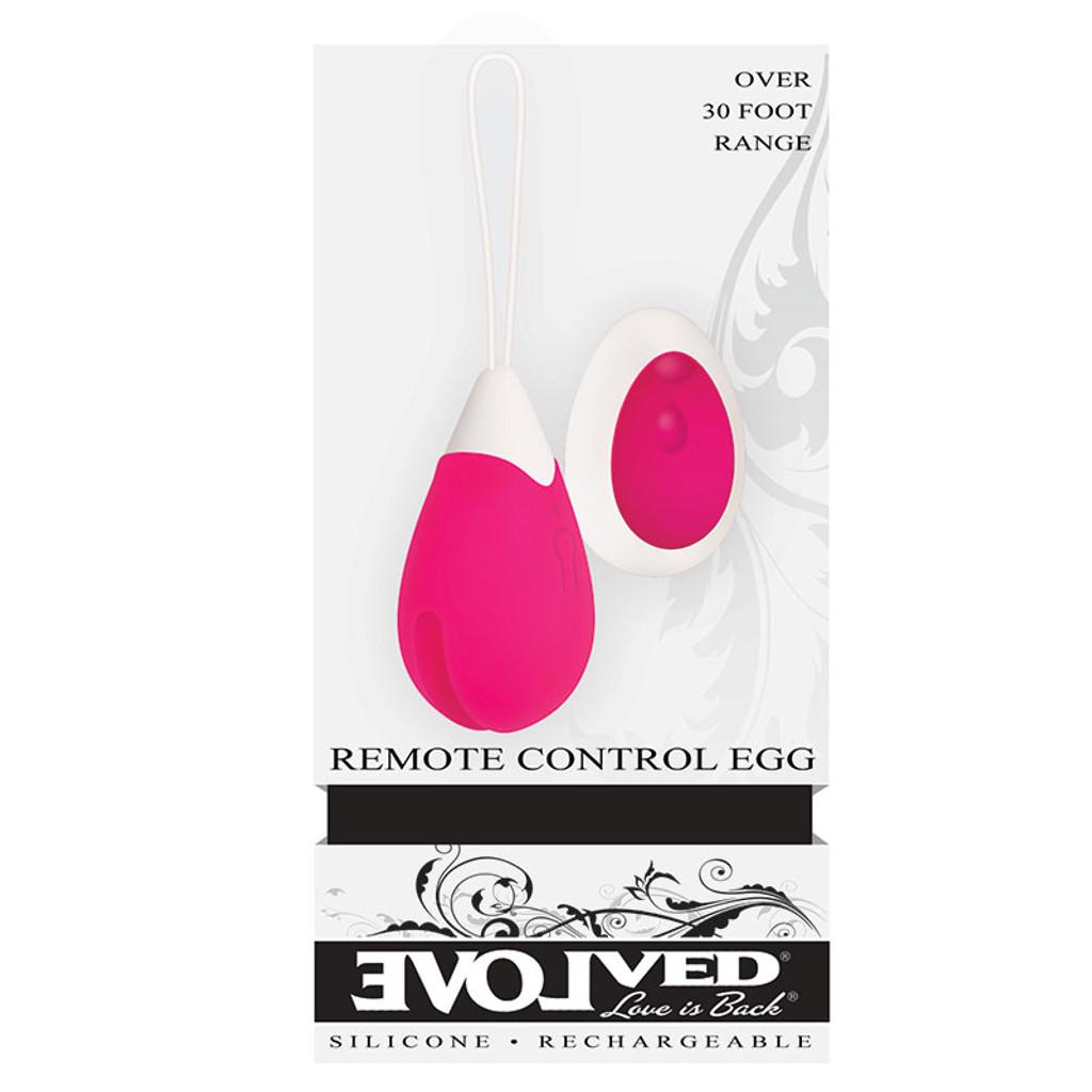 Evolved Novelties Remote Control Egg Vibrator - Box Front