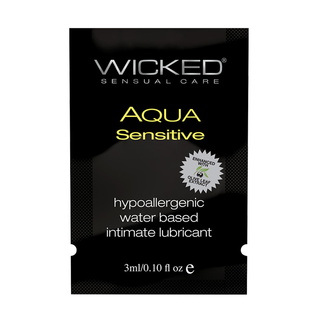 Wicked Aqua Sensitive Lubricant Sample - Front