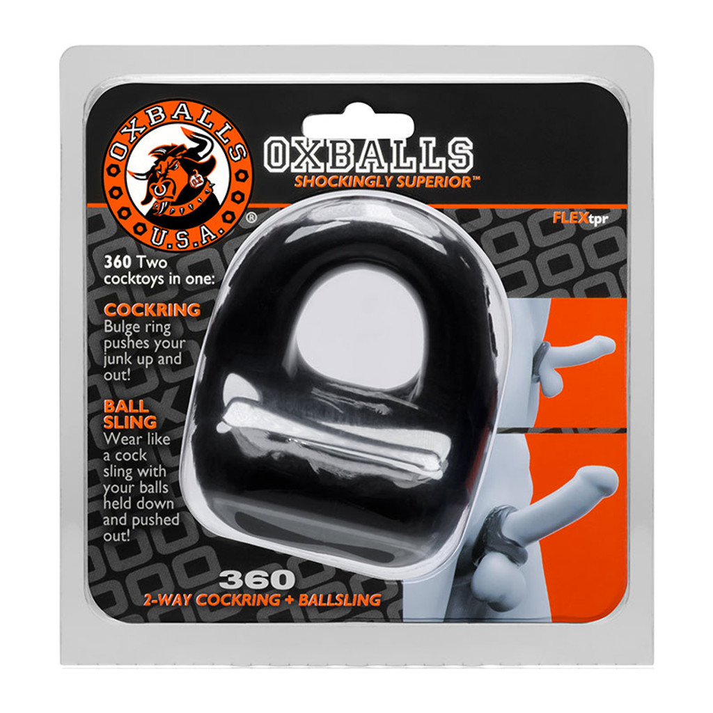 Oxballs 360 Dual Cock Ring and Ball Sling - Package