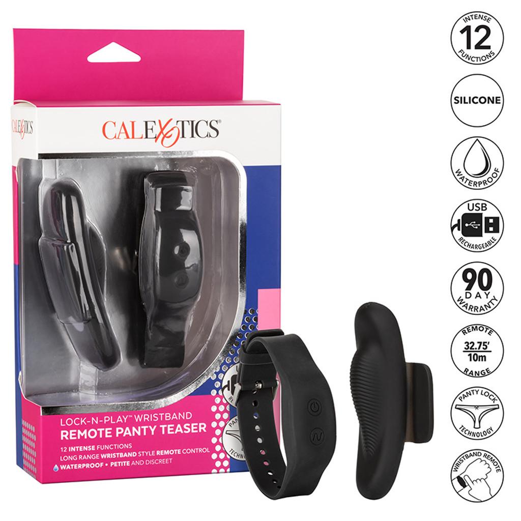 CalExotics Lock-N-Play Wristband Remote Panty Teaser - Highlights