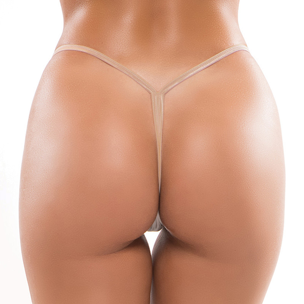 Nude Plus Size  Allure Lingerie Low Rise Thong - Back