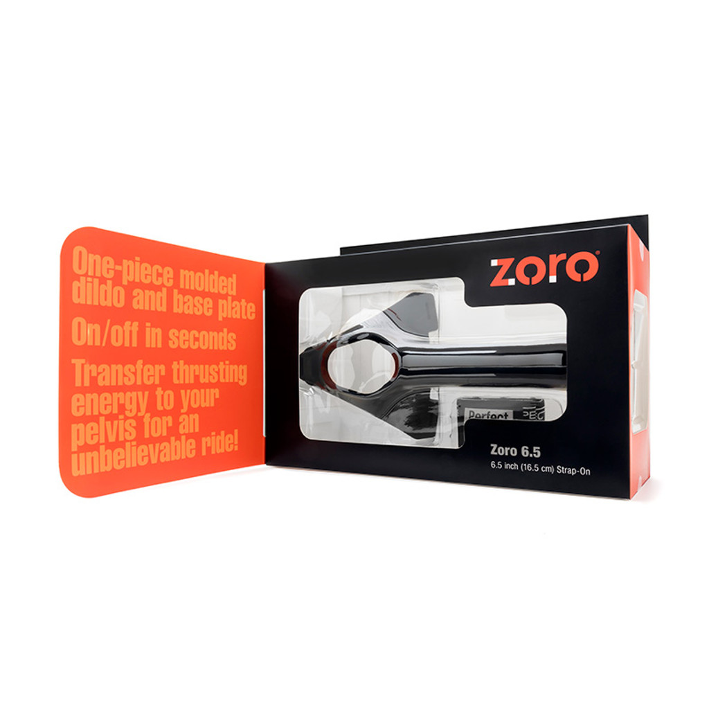 "Perfect Fit Brand Zoro 6.5"" Hollow Strap-On - Open Packaging"