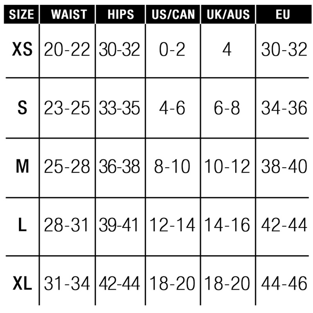 Sportsheets Active Harness Wear Fit Strap-On Harness - Size Chart