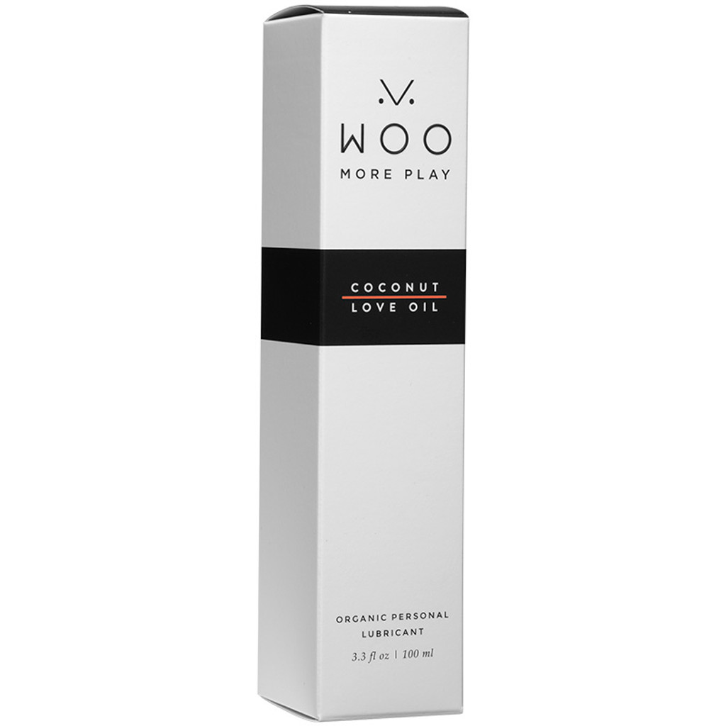 WOO More Play Coconut Love Oil - Organic Personal Lubricant - Boxed