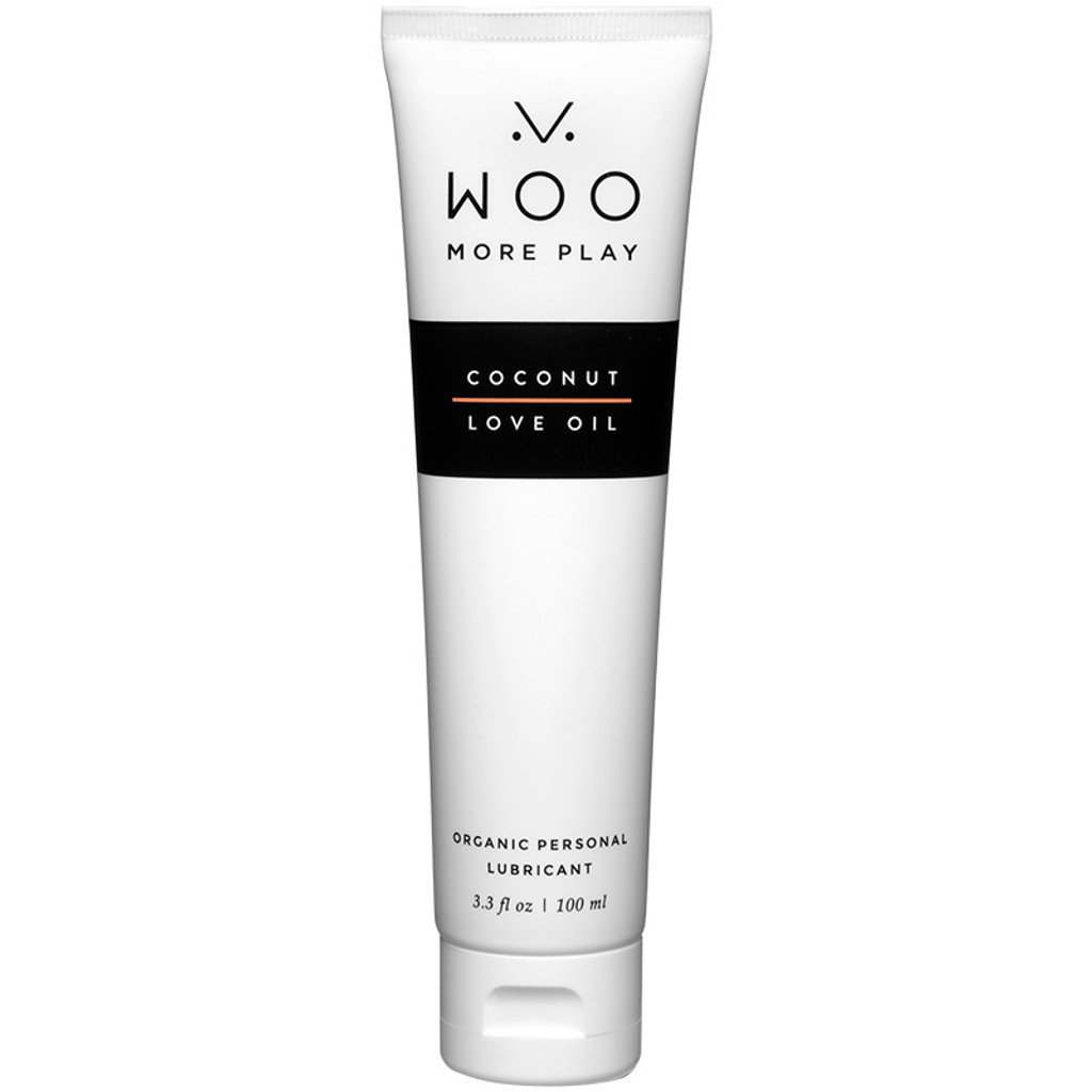 WOO More Play Coconut Love Oil - Organic Personal Lubricant - Tube