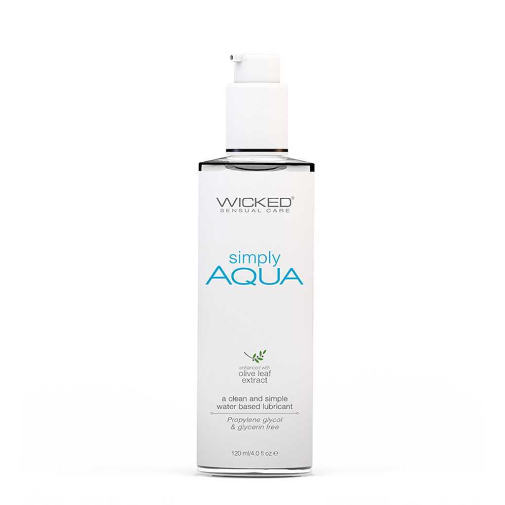 Wicked Sensual Care Simply Aqua Water Based Lubricant 4 oz. - Front