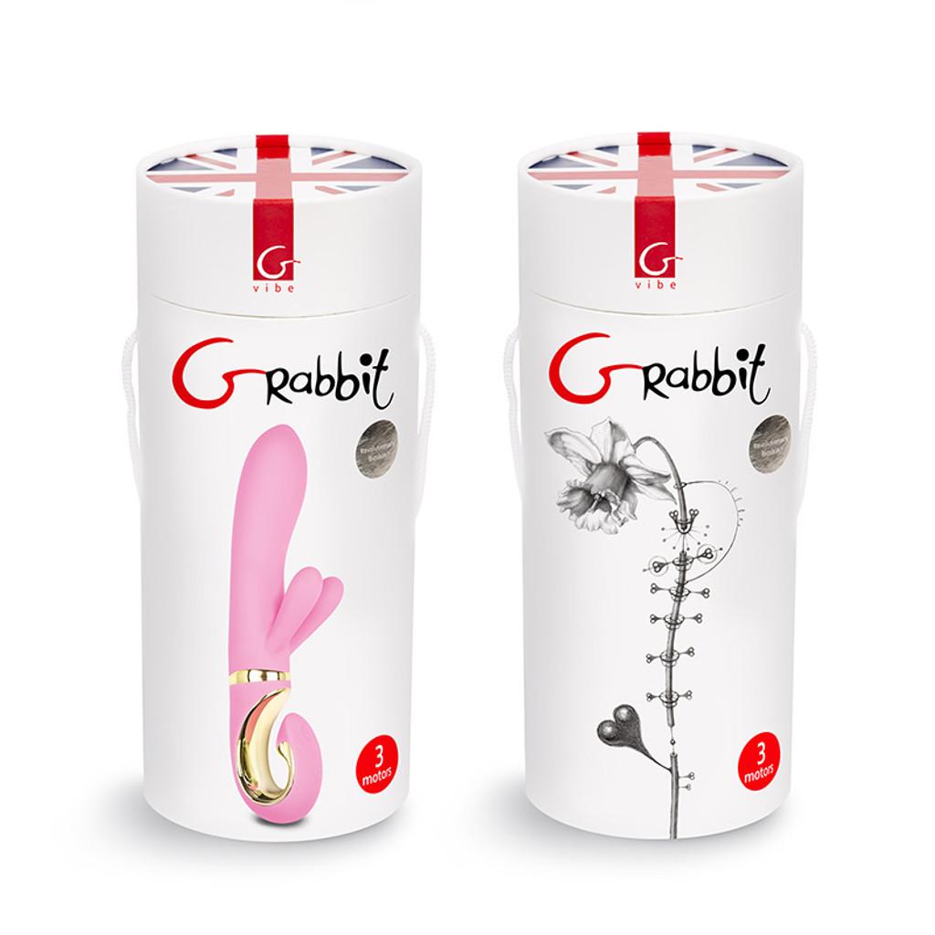 FT London Grabbit Bioskin Dual Rabbit Vibrator For Clit & G-Spot Stimulation - Packaging