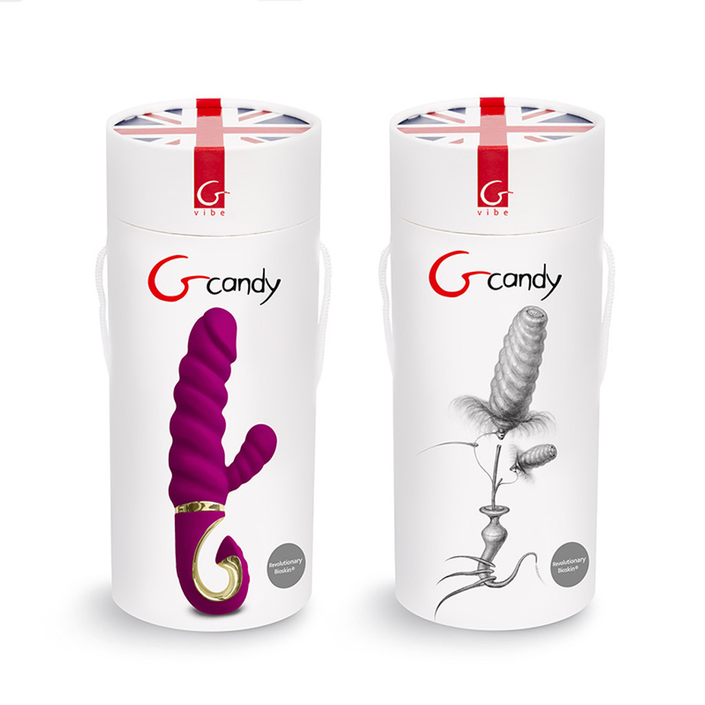 FT London Gcandy Bioskin Rabbit Vibrator For Clit & G-Spot Stimulation - Packaging