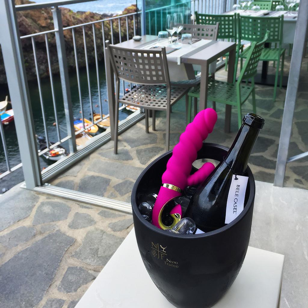 FT London Gcandy Bioskin Rabbit Vibrator For Clit & G-Spot Stimulation - Lifestyle #2
