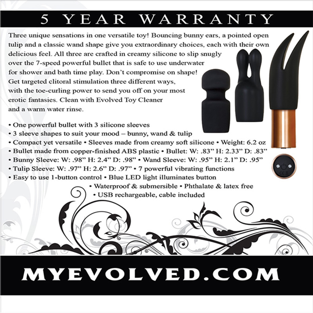 Evolved Novelties Glam Squad Bullet Kit - Packaging Back