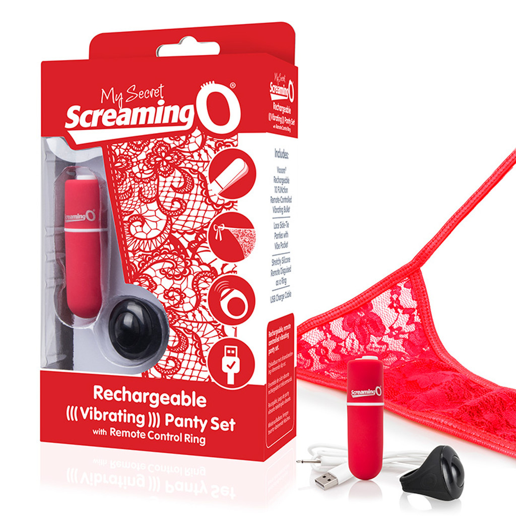 Red My Secret Screaming O® Charged Remote Control Panty Vibe