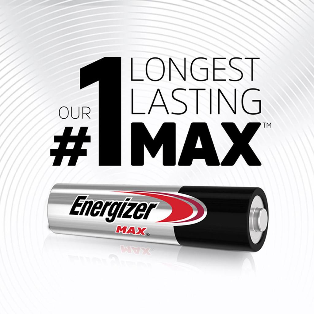 Energizer MAX Alkaline AAA Batteries - Long Lasting