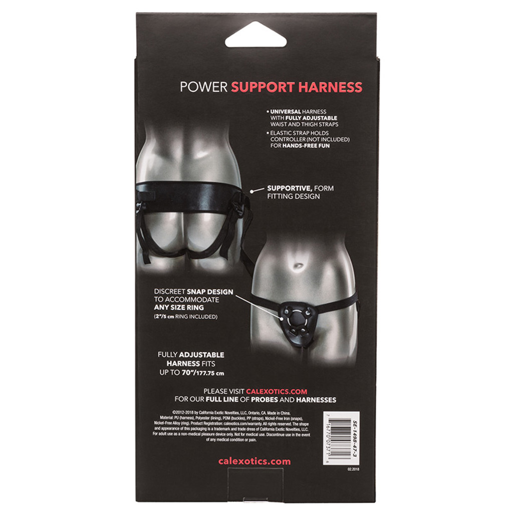CalExotics Universal Love Rider Power Support Harness - Packaging Back