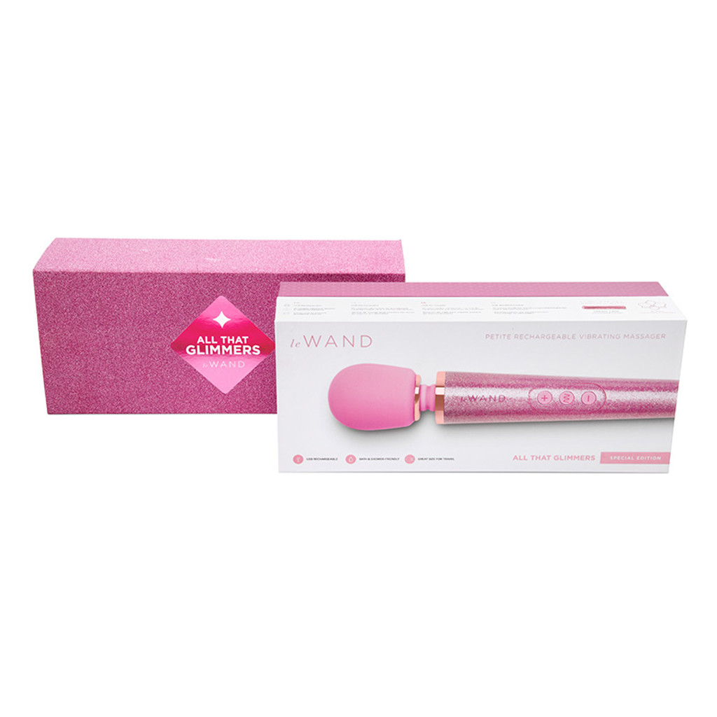 Pink Le Wand Special Edition: All That Glimmers Petite Rechargeable Wand Massager - Packaging