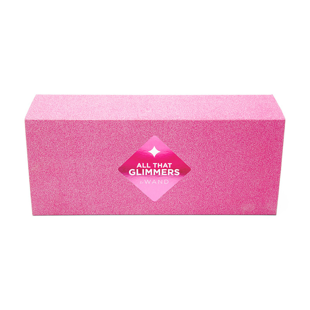 Pink Le Wand Special Edition: All That Glimmers Petite Rechargeable Wand Massager - Packaging Front
