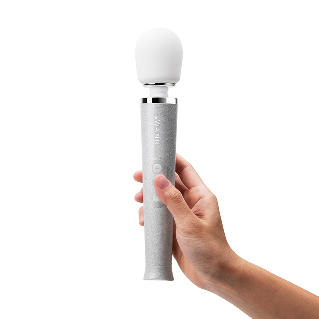 White Le Wand Special Edition: All That Glimmers Petite Rechargeable Wand Massager - Model