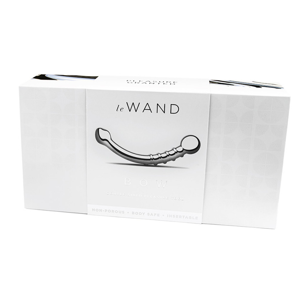Le Wand Bow Solid Stainless Steel, Double-Sided Pleasure Tool - Packaging