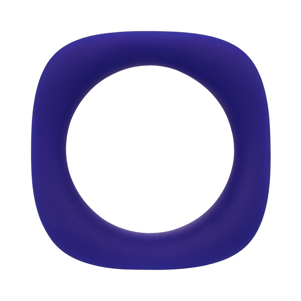 CalExotics Link Up Alpha Dual Vibrating Cock Ring - Ring Front