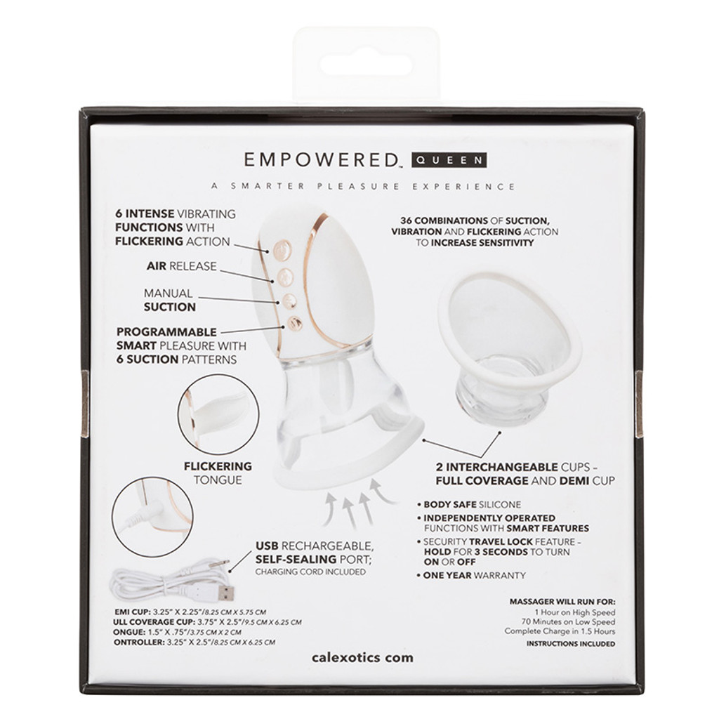 CalExotics Empowered Smart Pleasure Queen - Packaging Back