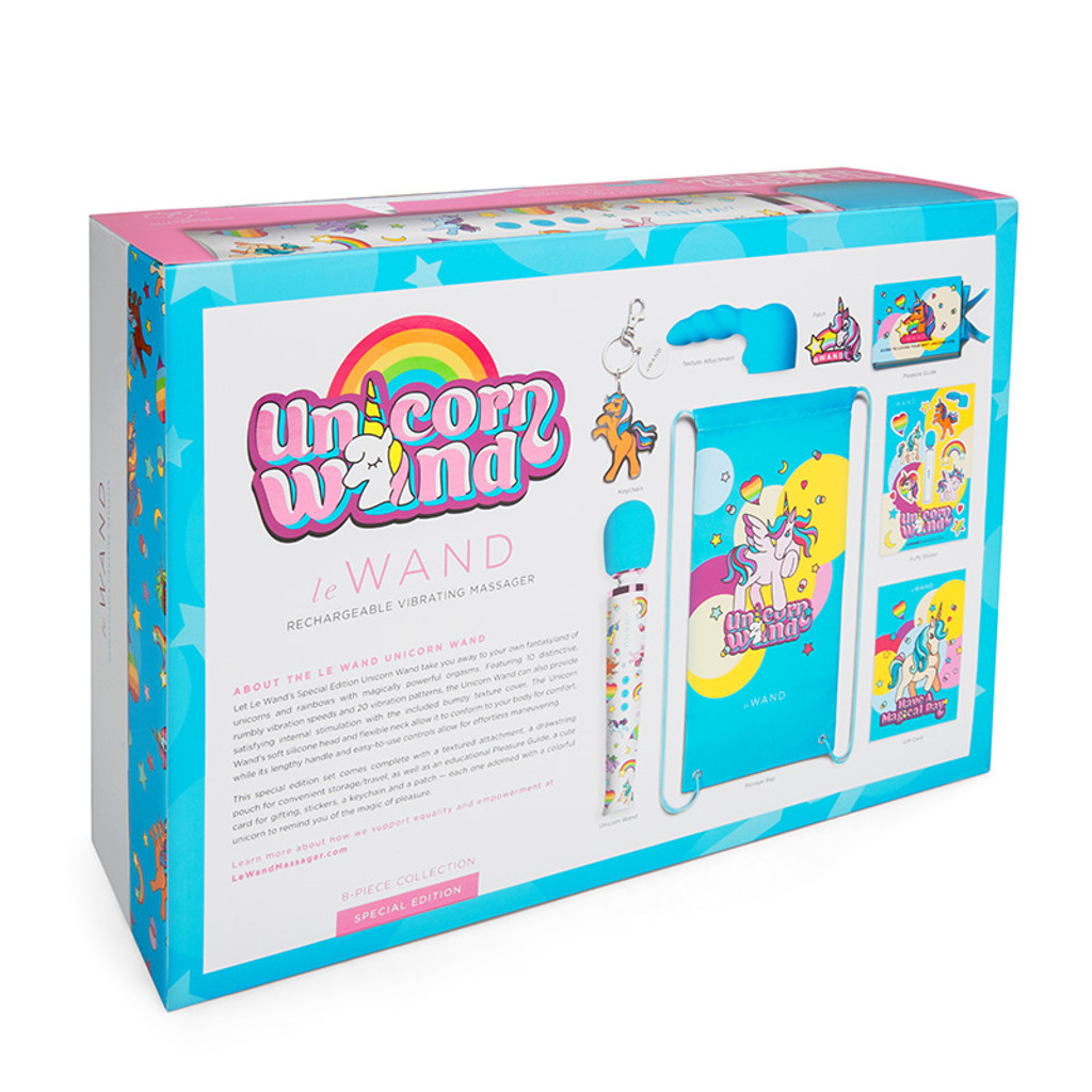 Le Wand Unicorn Wand 8-piece Limited Edition Set - Packaging Back