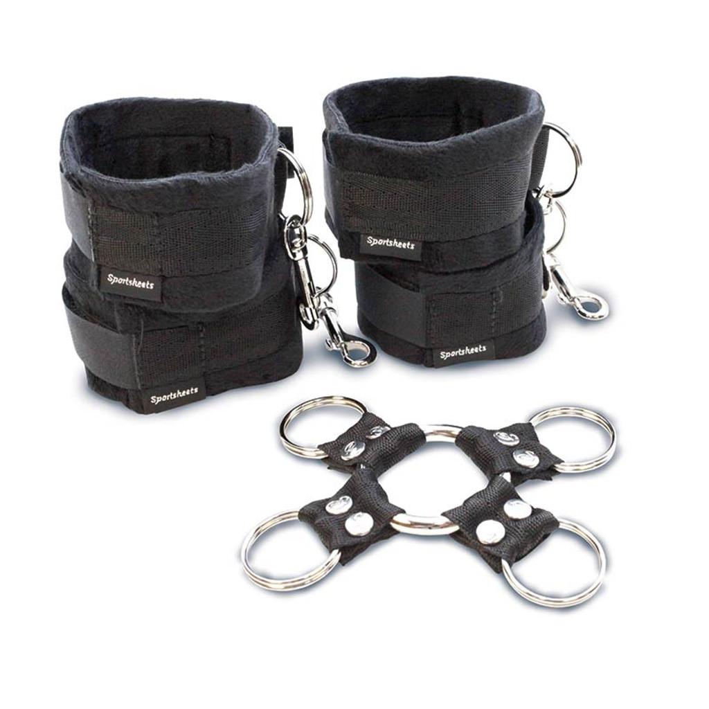Sportsheets 5 Piece Bondage Hog Tie and Cuff Set