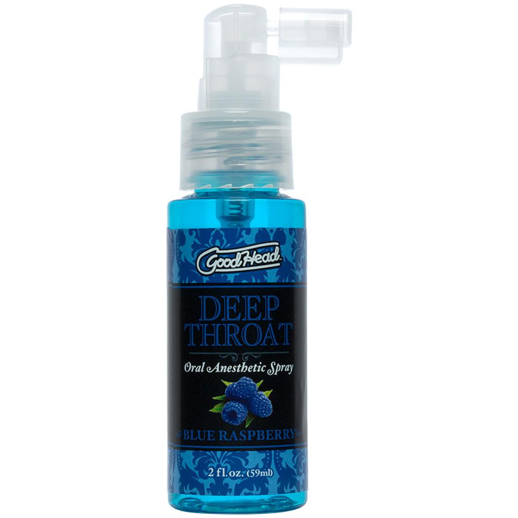 Blue Raspberry Doc Johnson GoodHead Deep Throat  Oral Anesthetic Spray - Bottle