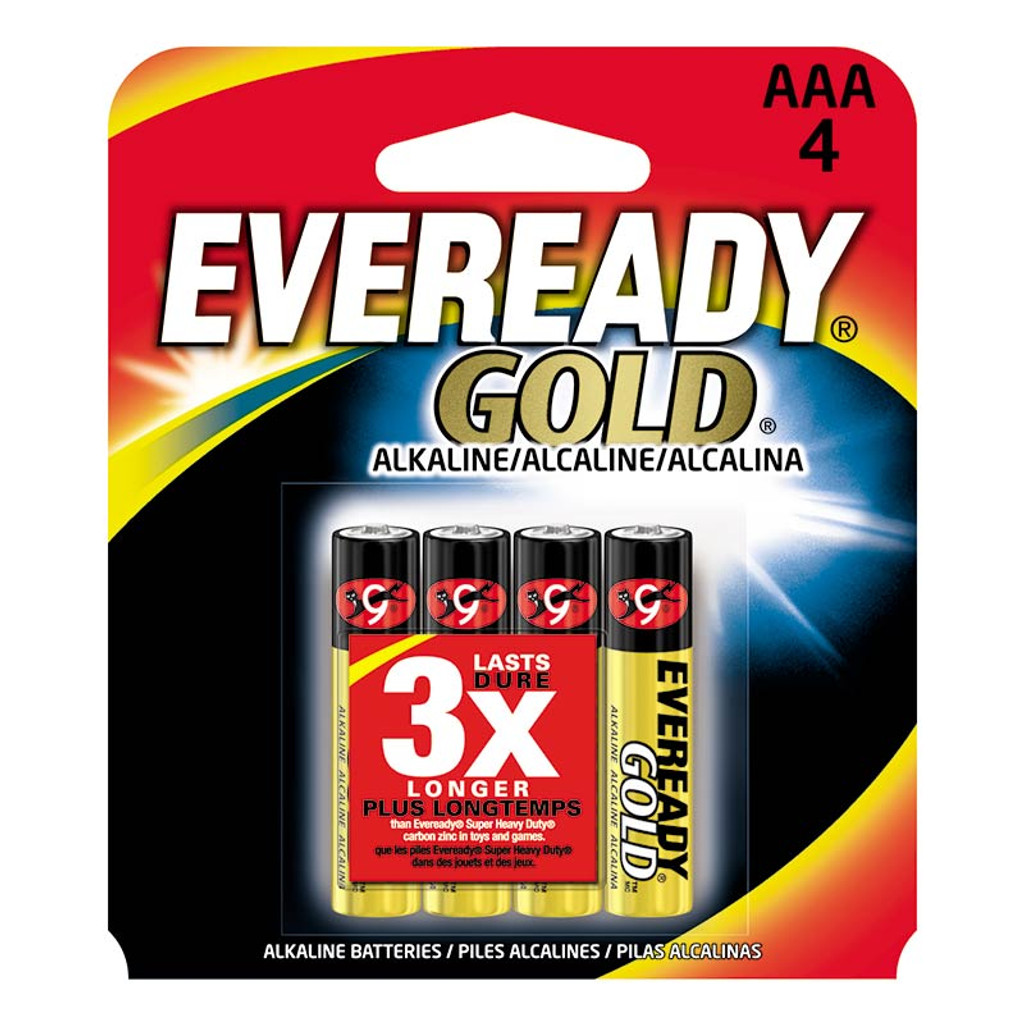 Eveready Gold Batteries AAA 4-pack