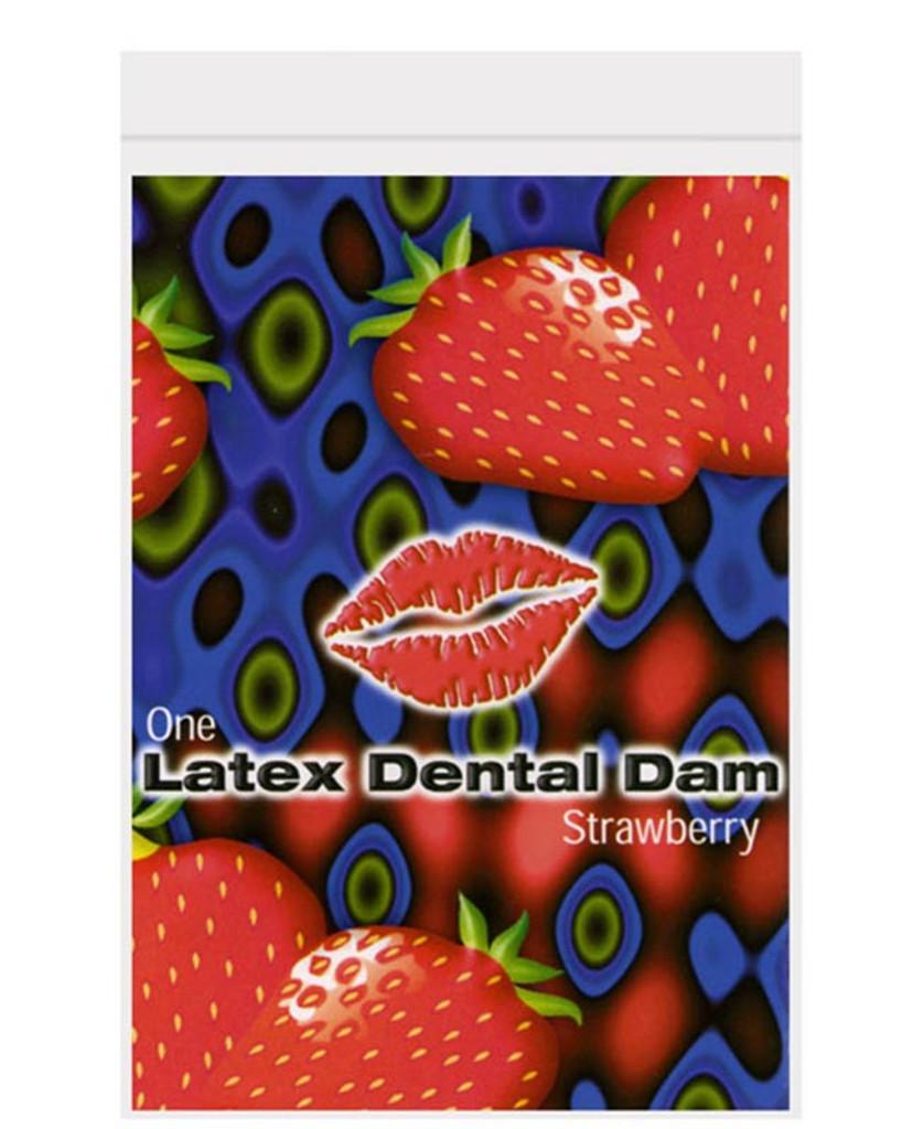 Latex Dental Dam - Strawberry