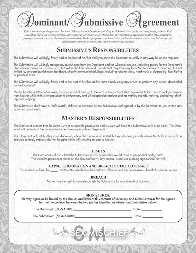 Sweet Punishment Kit - Dom/Sub Contract