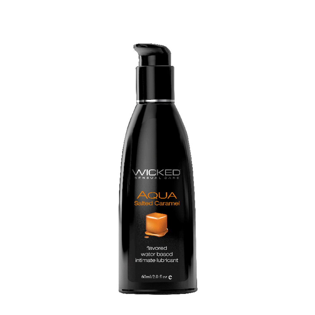 Wicked Aqua Flavored Lubricant - Salted Caramel 2 oz.