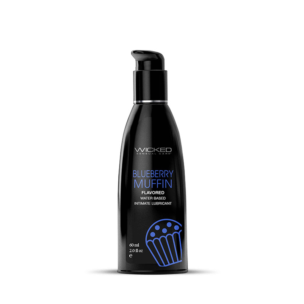 Wicked Aqua Flavored Lubricant - Blueberry Muffin 2 oz.