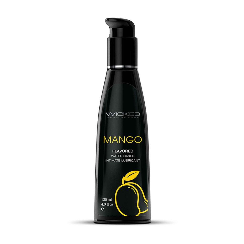 Wicked Aqua Flavored Lubricant - Mango 4 oz.