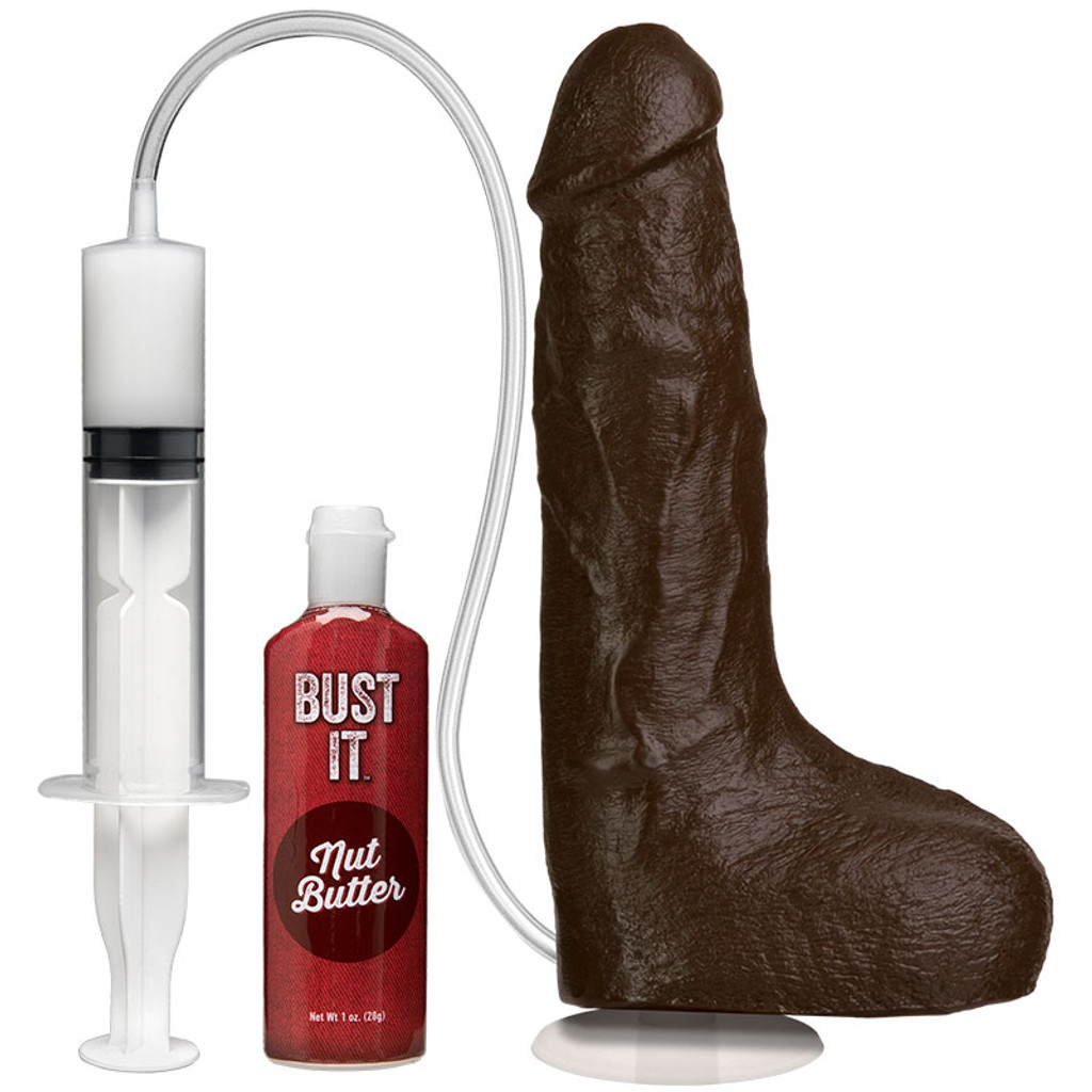 Chocolate Bust It Squirting Realistic Cock