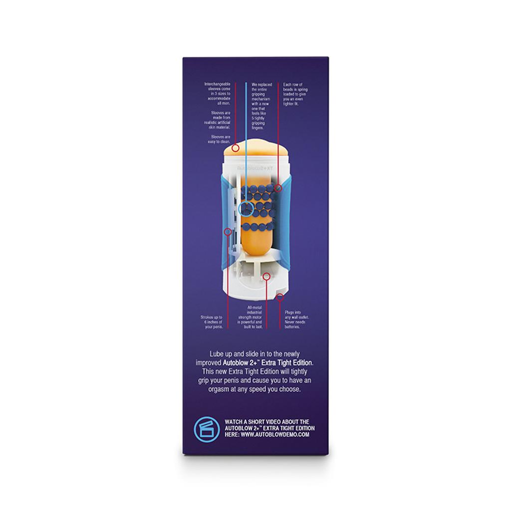 Autoblow 2+ XT: Extra Tight Edition Male Masturbator - Packaging Side