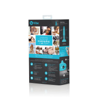 Teal B-Vibe Remote Control Rimming Plug - Packaging Back