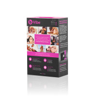 Fuchsia b-Vibe Snug Plug 1 Weighted Silicone Plug - Packaging Back