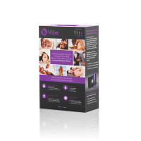 Purple b-Vibe Snug Plug 2 Weighted Silicone Plug - Packaging Back
