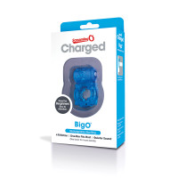 Blue Screaming O Charged BigO Rechargeable Vibrating Cock Ring - Packaging