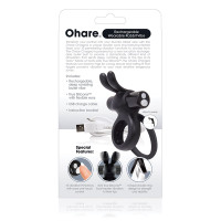 Black Charged Ohare Rechargeable Vibrating Ring - Package Back