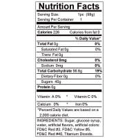 Hott Products Sweet Ass Gummies - Nutrition Facts