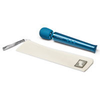 Blue Le Wand Petite Rechargeable Wand Massager - Carrying Case
