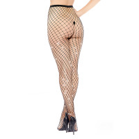 Diamond Medium Fishnet and Rhinestone Pantyhose - Back