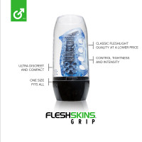 Fleshskins Blue Ice with Case - Features