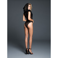 Adore by Allure Lingerie Dare to Imagine Sequins Bodysuit with Hoodie - Back Alt