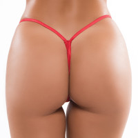 Red Plus Size Allure Lingerie Low Rise Thong - Back